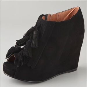 Size 8 Jeffrey Campbell Black suede Mary Lou wedge